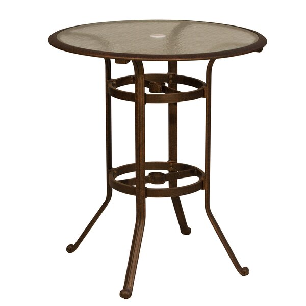 Ross Glass Bar Table by Fleur De Lis Living