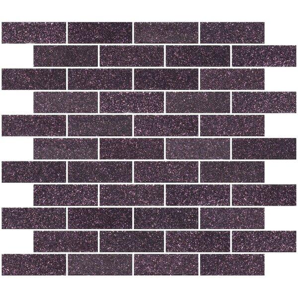 1 x 3 Glass Subway Tile in Purple Plum by Susan Jablon