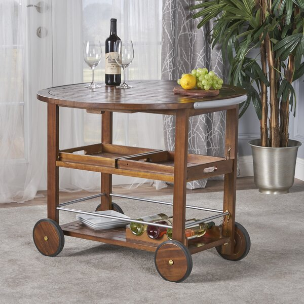 Porsha Wood Bar Cart by Bayou Breeze Bayou Breeze