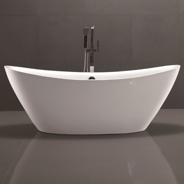 71 x 34 Freestanding Soaking Bathtub by Vanity Art
