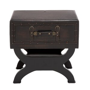 Tessio Wood Trunk End Table by Williston Forge
