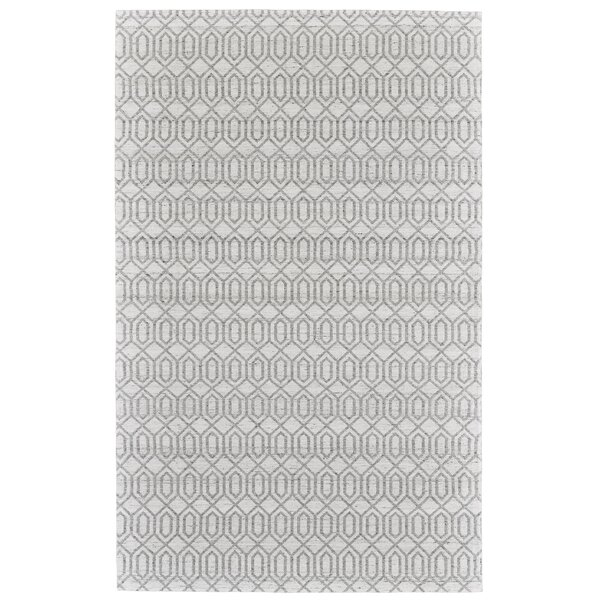 Coria Hand-Woven Silver/Gray Area Rug by Ivy Bronx