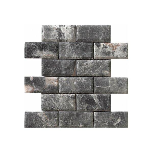 Diamond 12 x 12 Engineered Stone Mosaic Tile in Gray by Kellani