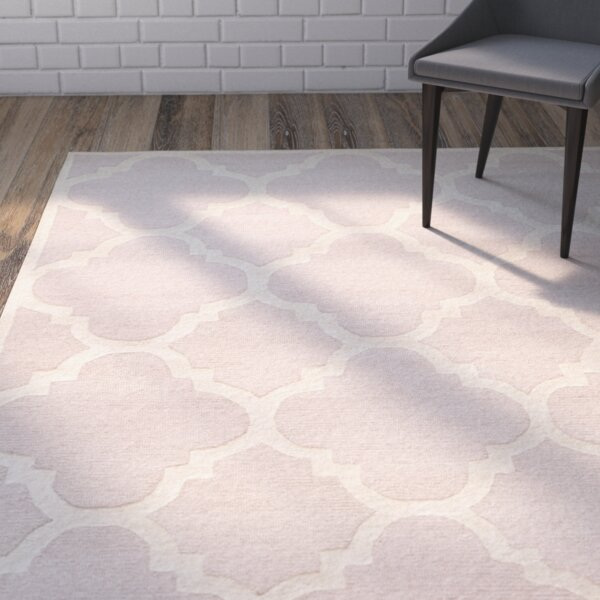 Charlenne Trellis Light Pink & Ivory Area Rug by Zipcode Design