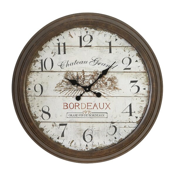 Holsworthy Oversized 28 Dial Face of 1971 Bordeaux Wall Clock by Darby Home Co