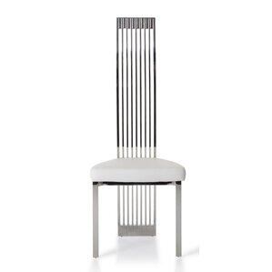 Clower Modern Genuine Leather Upholstered Dining Chair by Orren Ellis