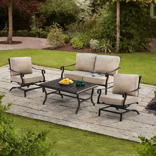 Tarrance 4 Piece Sofa Seating Group with Cushions by Charlton Home