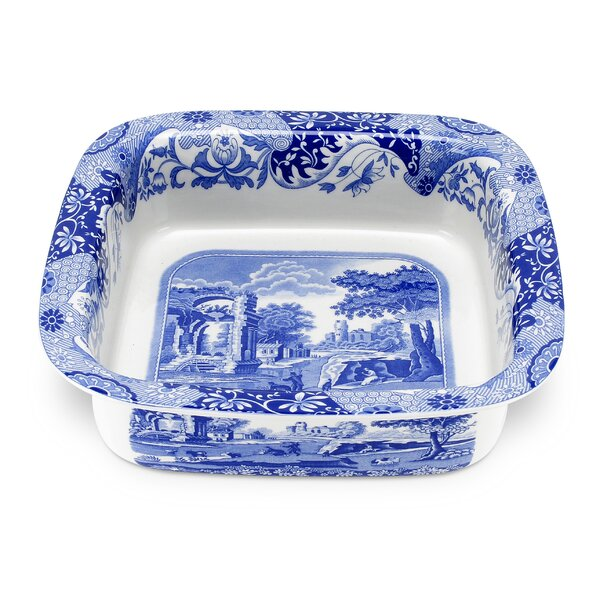 Blue Italian Square Dish by Spode