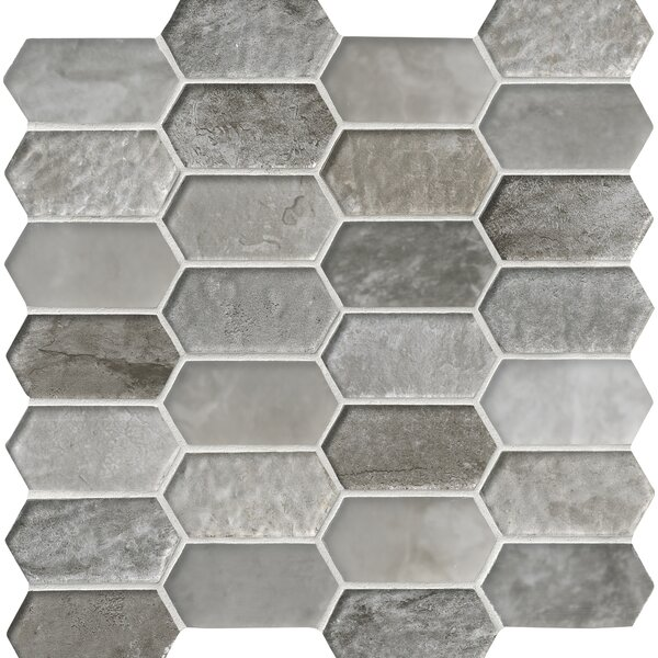 Savoy Picket Glass Mosaic Tile in Brown by MSI