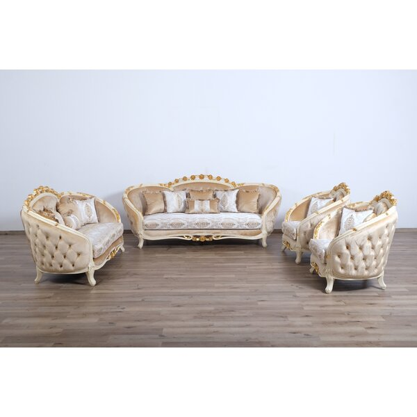 Maxime 3 Piece Living Room Set by Astoria Grand