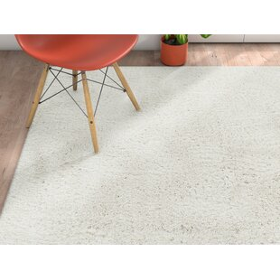 Cervantez Modern Solid Soft Power Loom White Area Rug by Ebern Designs
