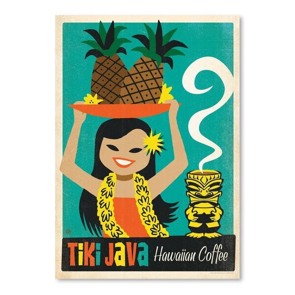 Coffee Tiki Java Hawaiian Vintage Advertisement by East Urban Home