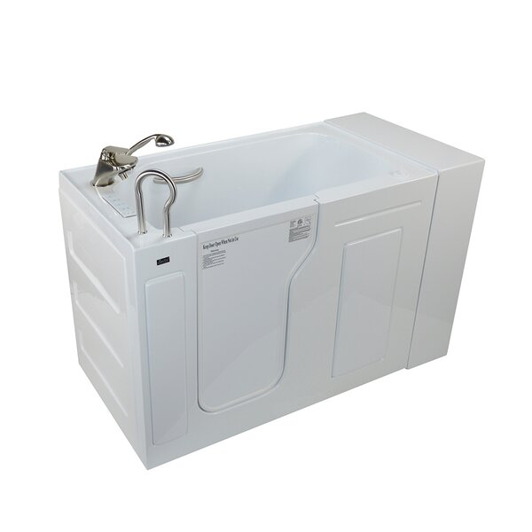 Fully Loaded Acrylic Dual Massage 29.5 x 51 Walk In Air/Whirlpool by Ella Walk In Baths
