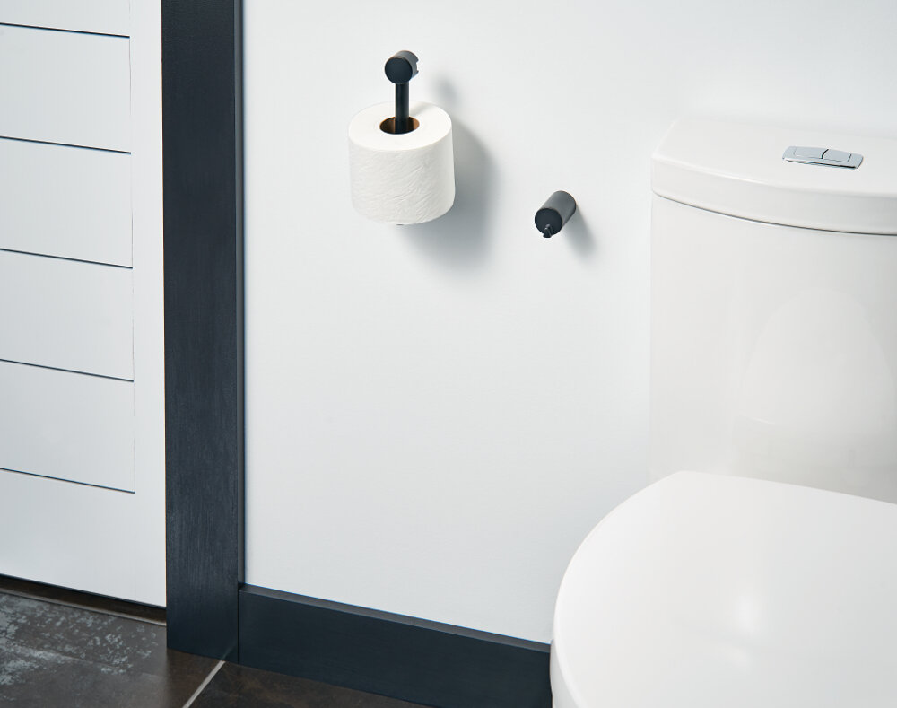 Toilet Paper Holder : Yb0408ch bn bl moen align wall mounted toilet paper holder & reviews