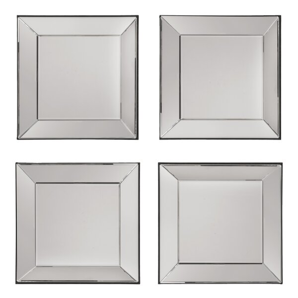 Erelina Decorative Square Wall Mirror (Set of 4) by Zipcode Design