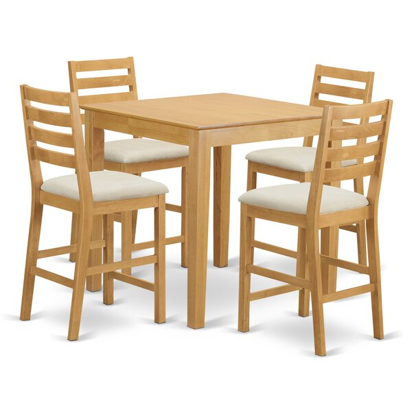 Spitzer 5 Piece Counter Height Pub Table Set by Charlton Home