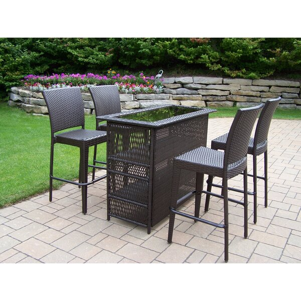 Elite 5 Piece Bar Height Dining Set by Oakland Living