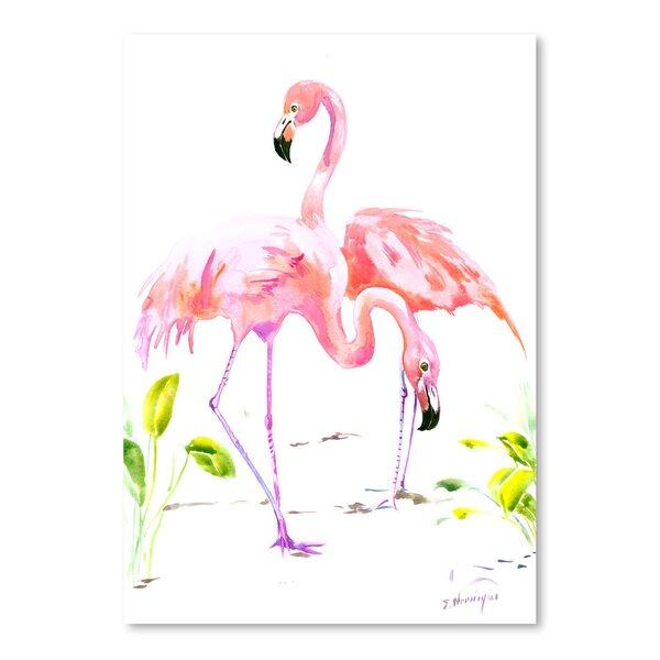 Flamingos 2 Painting Print by Bay Isle Home