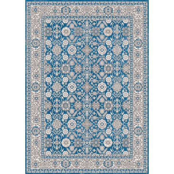 Brigette Antique Ocean Blue Area Rug by Darby Home Co