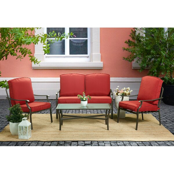Allain 4 Piece Sofa Seating Group with Cushions by Alcott Hill