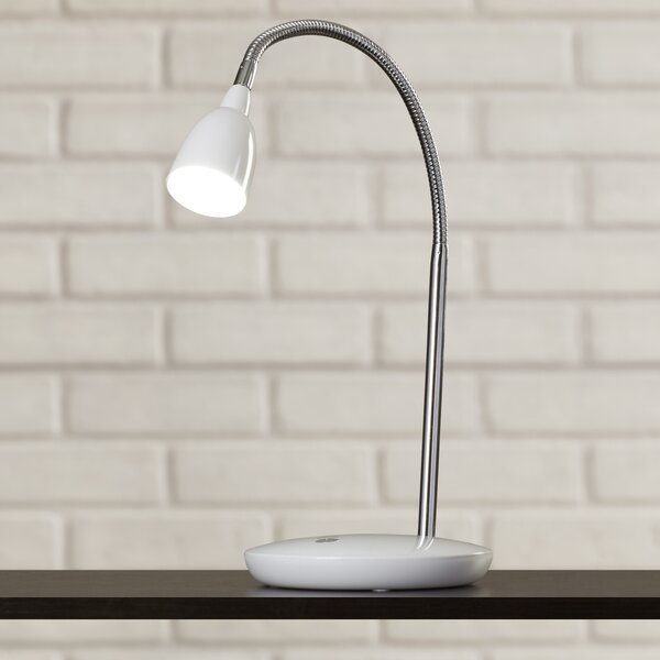 Oatfield LED 17 Desk Lamp with Bowl Shade by Wrought Studio