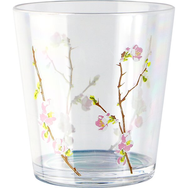 Cherry Blossom Bamboo Leaf Acrylic 14 oz. Tumbler (Set of 6) by Corelle