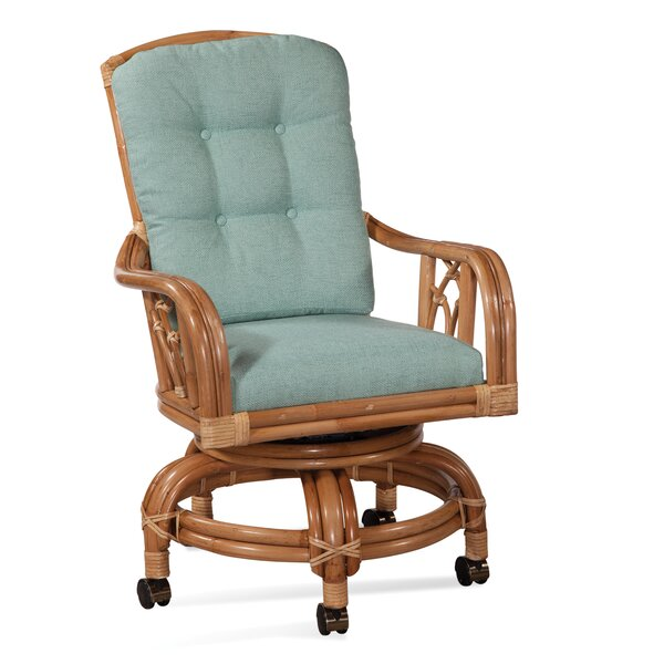 Edgewater High-Back Swivel Upholstered Dining Chair by Braxton Culler