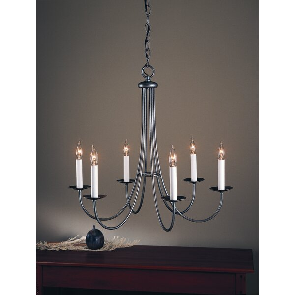 6-Light Candle Style Classic / Traditional Chandelier by Hubbardton Forge Hubbardton Forge