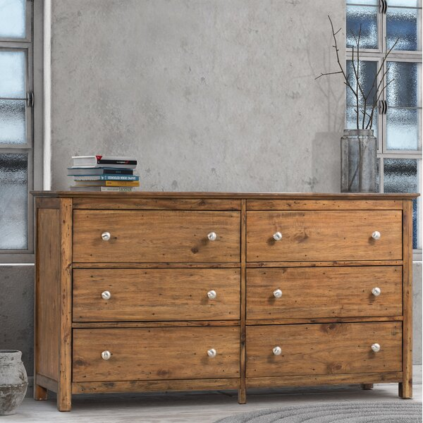 Bonview 6 Drawer Double Dresser by Loon Peak