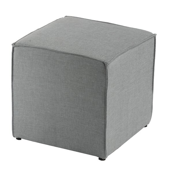 Heffernan Cube Ottoman by Charlton Home