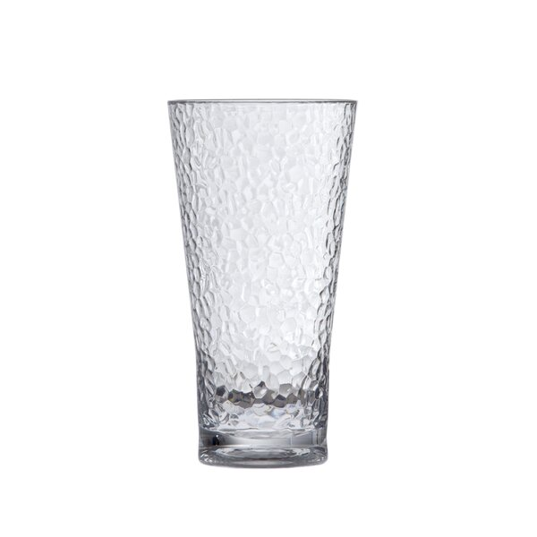 Hammered Iced Beverage 20 oz. Plastic Every Day Glass (Set of 6) by D&V