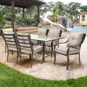 Sweetman 7 Piece Outdoor Dining Set with CushionPatio Dining Sets You ll Love   Wayfair. Outdoor Dining Sets Austin. Home Design Ideas