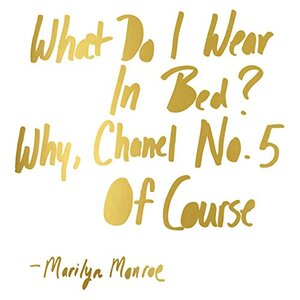 We Agree 'Marilyn Monroe Chanel' Textual Art on Wrapped Canvas by Buy Art For Less