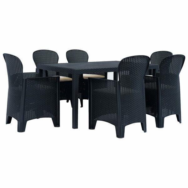 Craver 7 Piece Dining Set with Cushions by Highland Dunes