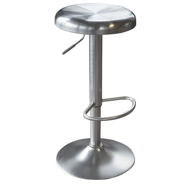 Loft Stainless Steel Adjustable Height Swivel Bar Stool by AmeriHome