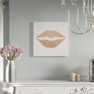 Rose Gold Kiss Oil Painting Print On Wred Canvas