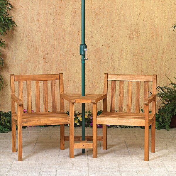 Caitlin 3 Piece Bistro Set by Rosecliff Heights
