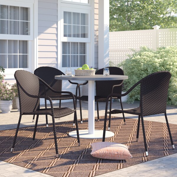 Belton Stacking Patio Dining Chair (Set of 4) by Mercury Row