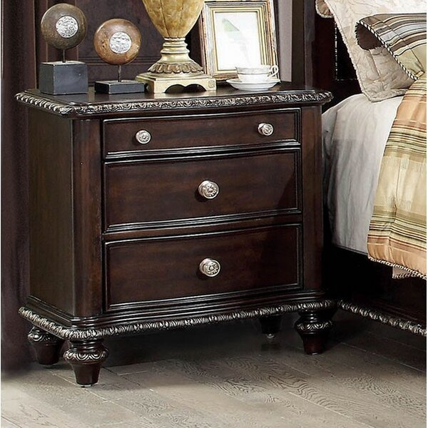 Titus 3 Drawer Nightstand By Astoria Grand