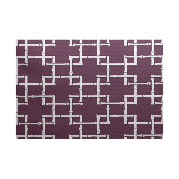 Connelly Purple Indoor/Outdoor Area Rug by Bay Isle Home