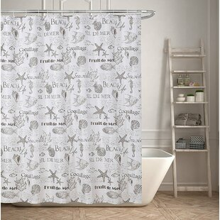 Inexpensive Beach Life Inspired Shower Curtain By Highland Dunes