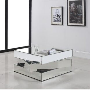 Mirrored Square Coffee Tables Youll Love Wayfair - Wayfair mirrored coffee table