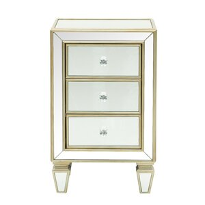 Reiner Mirror 3 Drawer Accent Chest