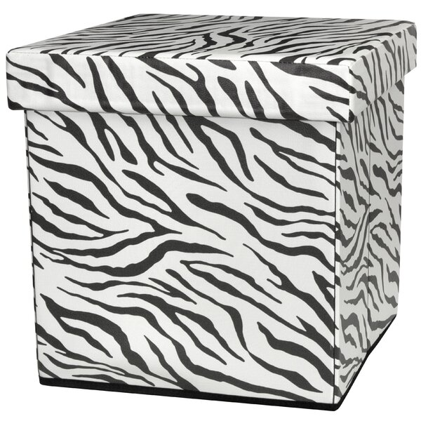 Zebra Stripe Storage Ottoman by Oriental Furniture