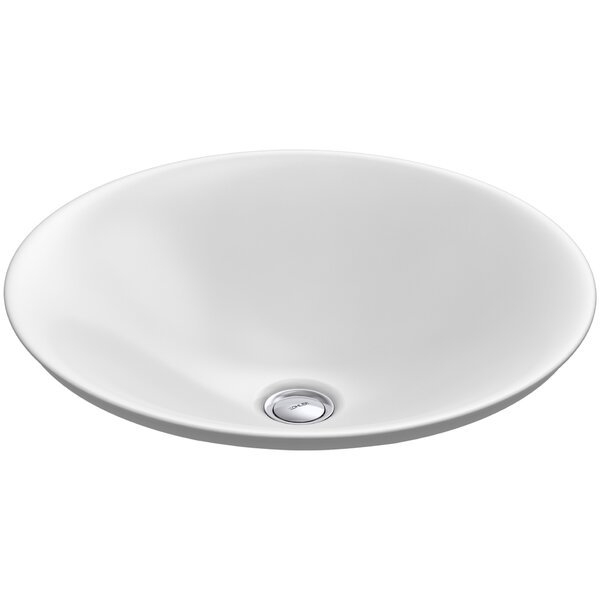 Carillon Ceramic Circular Vessel Bathroom Sink by Kohler