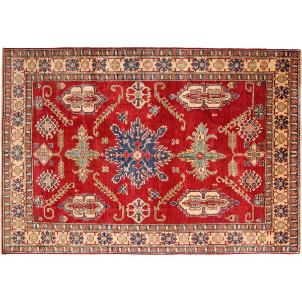 One-of-a-Kind Kazak Hand-Knotted Red Area Rug by Darya Rugs