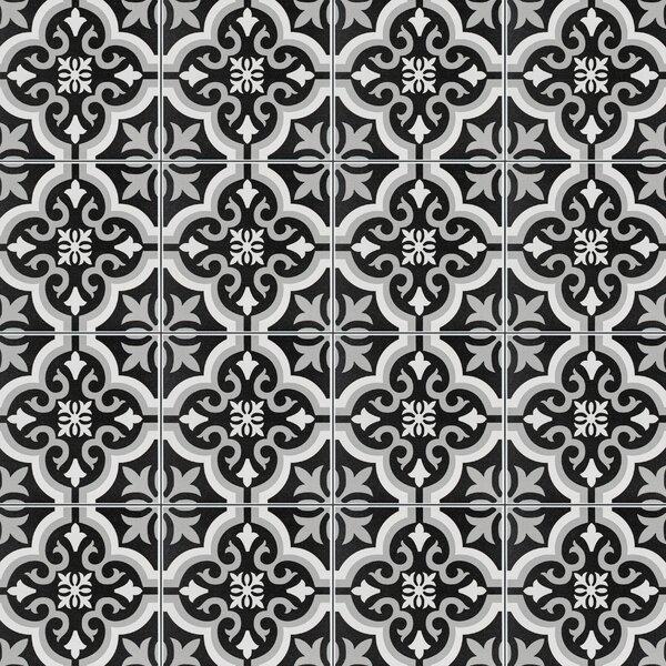 Lima 7.75 x 7.75 Ceramic Field Tile in Black/Gray by EliteTile
