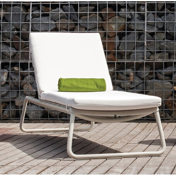 Corail Indoor/Outdoor Sunbrella Chaise Lounge Cushion by OASIQ
