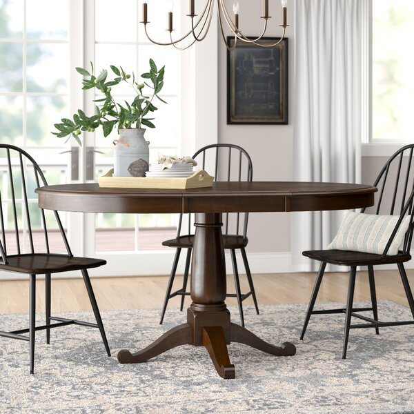 Kiantone Extendable Solid Wood Dining Table by Darby Home Co