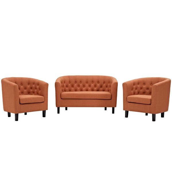 Wilbur 3 Piece Living Room Set by House of Hampton